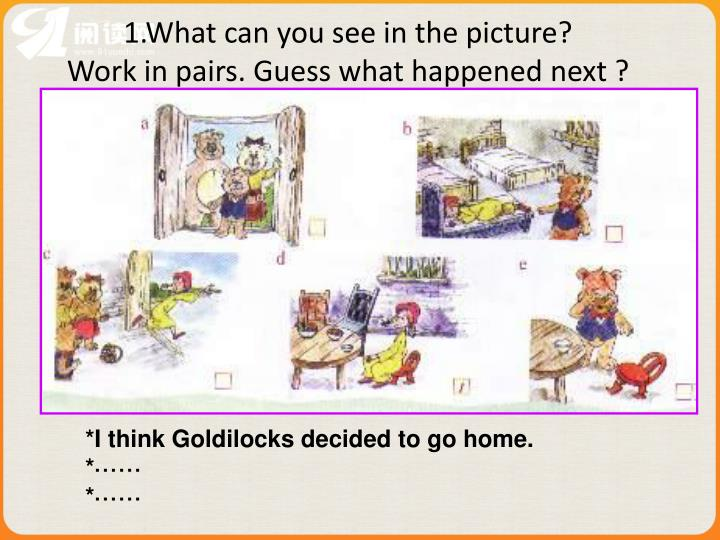 1.What can you see in the picture?