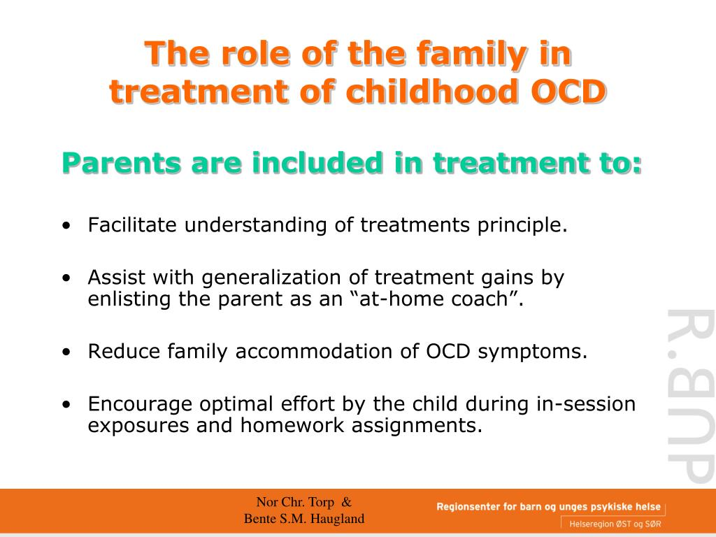 PPT - Family functioning and treatment of childhood OCD