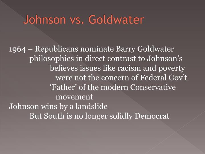 Johnson vs. Goldwater