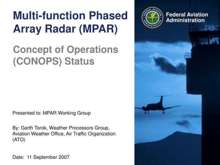 Multi function phased array radar mpar