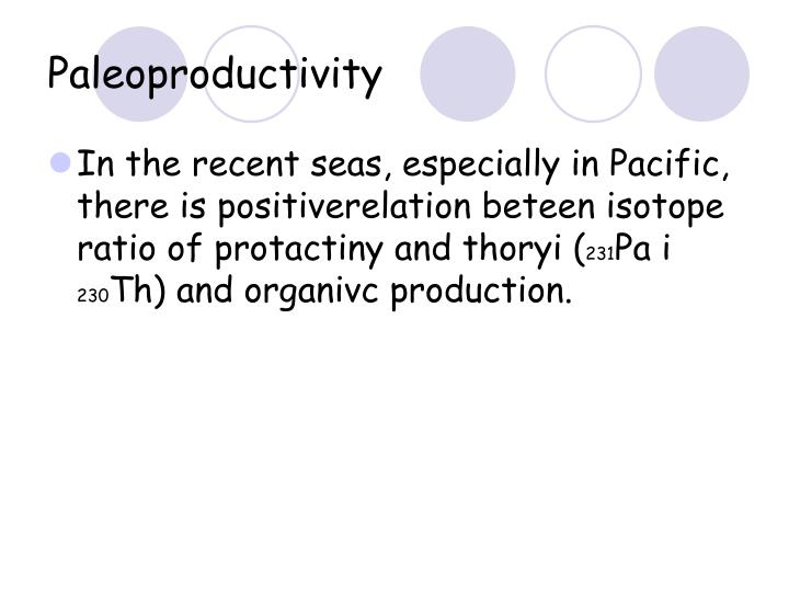 Paleoproductivity