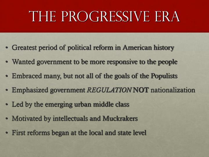 The progressive era1