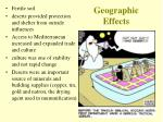 geographic effects