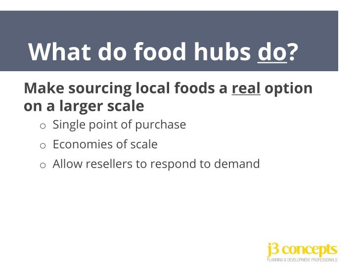 What do food hubs