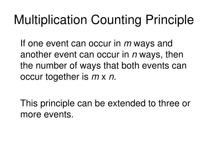Multiplication Counting Principle