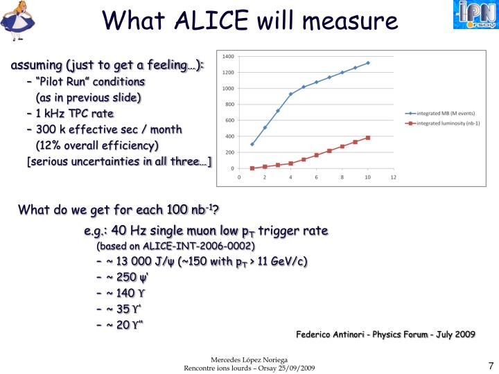 What ALICE will measure