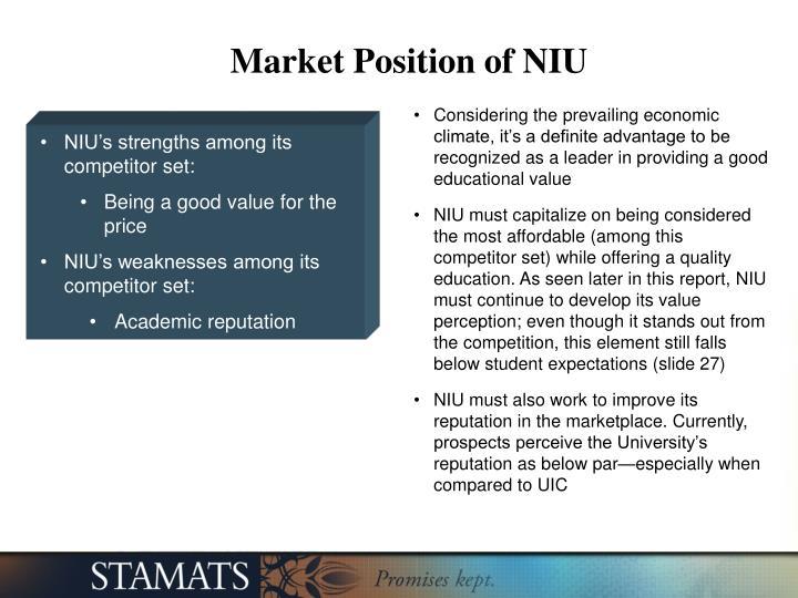 Market Position of NIU