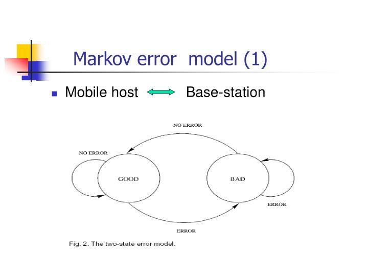Markov error  model (1)