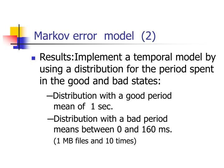 Markov error  model  (2)