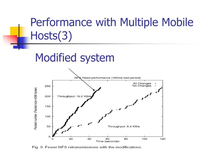 Performance with Multiple Mobile Hosts(3)