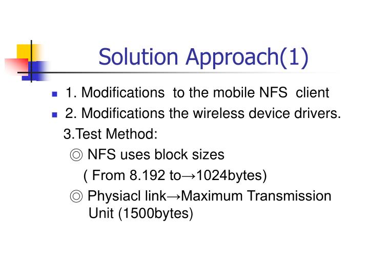 Solution Approach(1)