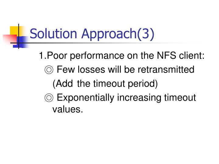 Solution Approach(3)