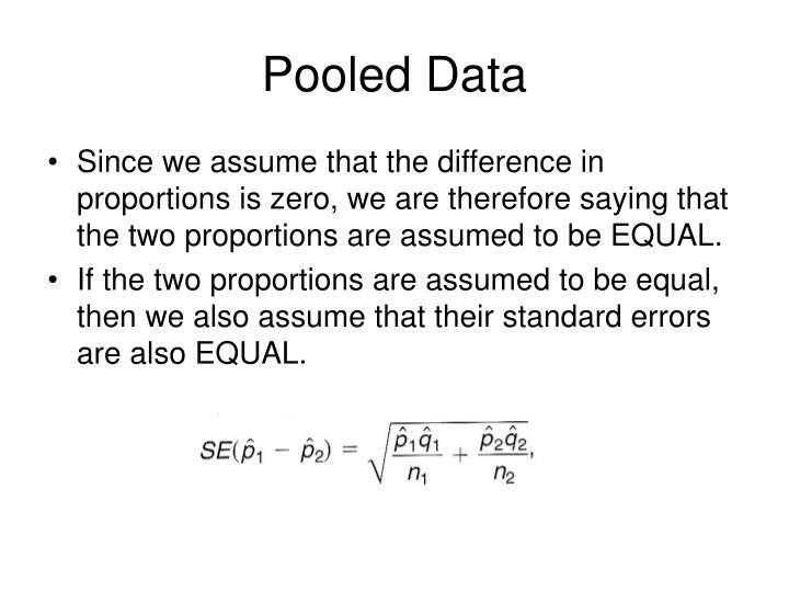 Pooled Data
