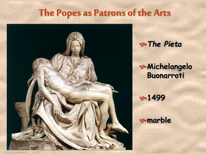 The Popes as Patrons of the Arts