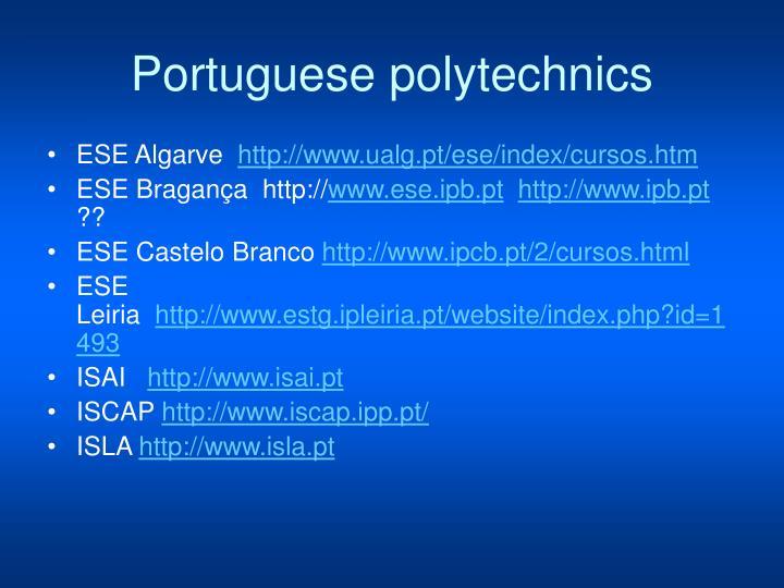 Portuguese polytechnics