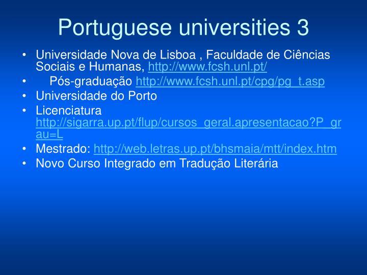 Portuguese universities 3