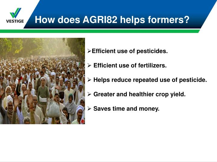 How does AGRI82 helps formers?