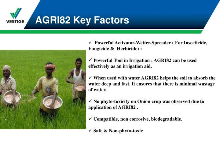 AGRI82 Key Factors