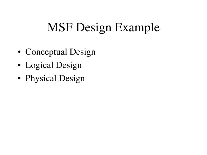 msf design example n.