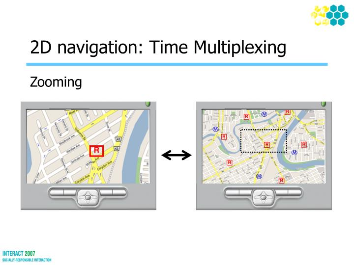 2d navigation time multiplexing