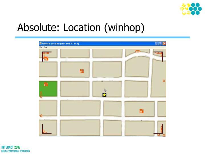 Absolute: Location (winhop)