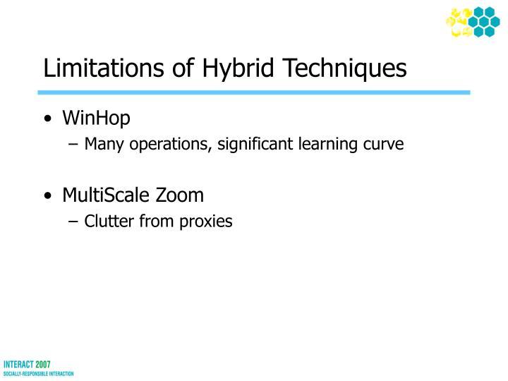 Limitations of Hybrid Techniques