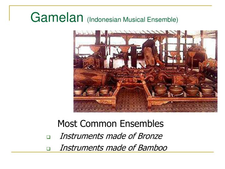 Gamelan indonesian musical ensemble