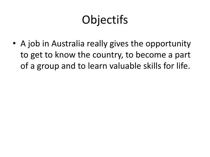Objectifs