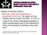 catholic bishops in africa reject the myth that aids is a punishment from god