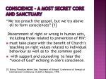 conscience a most secret core and sanctuary1