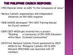 the philippine church response