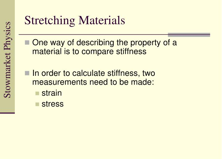 Stretching Materials