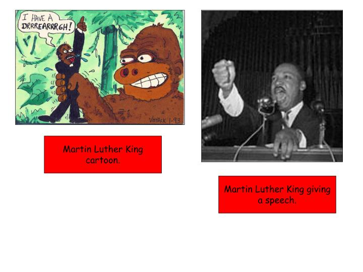 Martin Luther King cartoon.