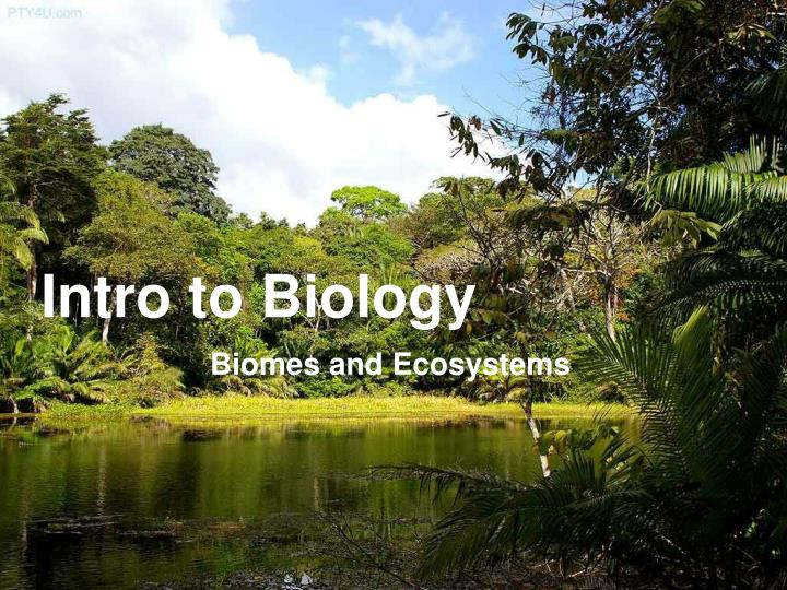 an introduction to the biology and ecosystem The introduction to ecosystems chapter of this course is designed to help you plan and teach about the dynamic relationships among living.