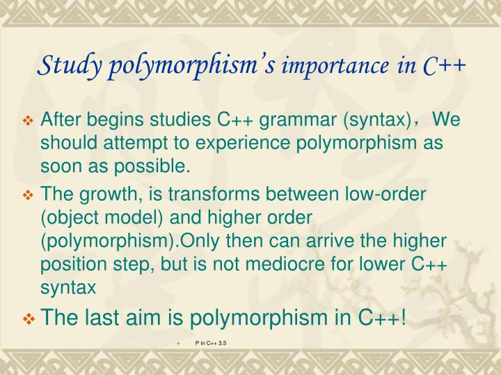 Study polymorphism's