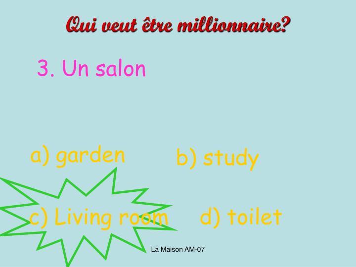 Qui veut être millionnaire?