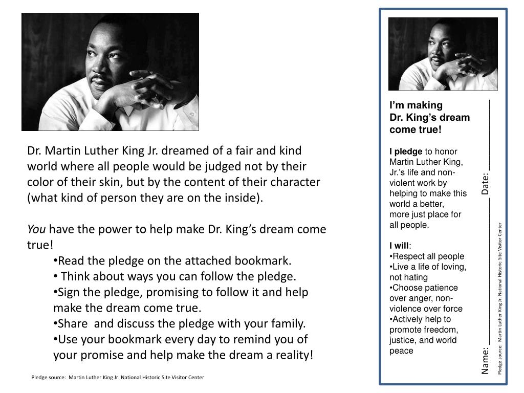 Ppt I M Making Dr King S Dream Come True Powerpoint Presentation