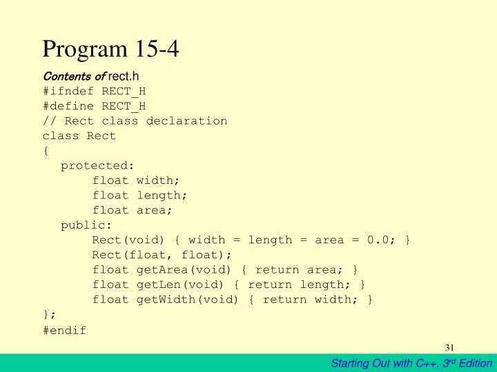 Program 15-4