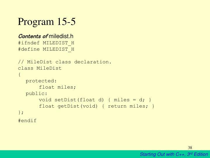 Program 15-5