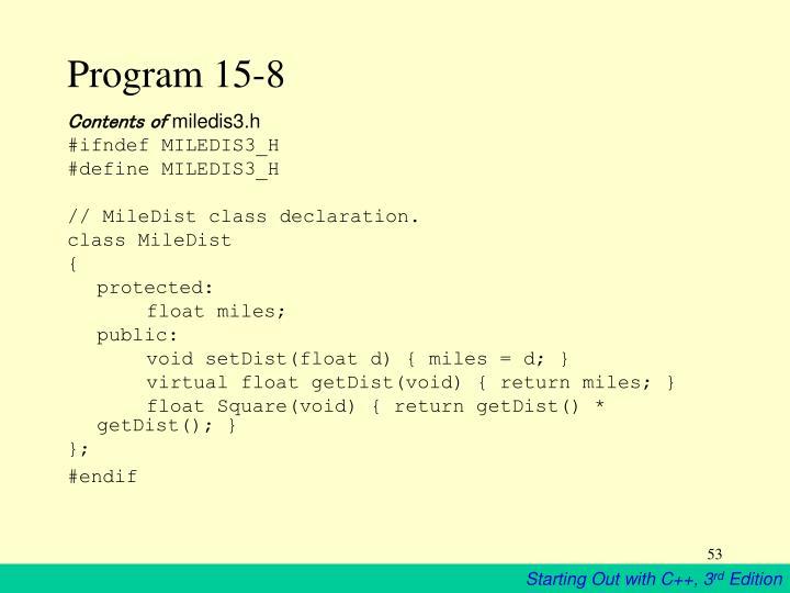 Program 15-8