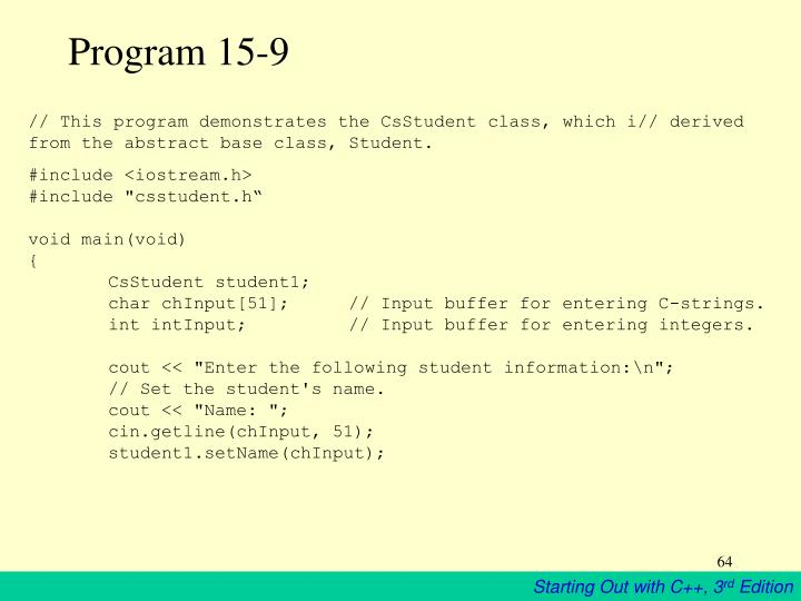 Program 15-9