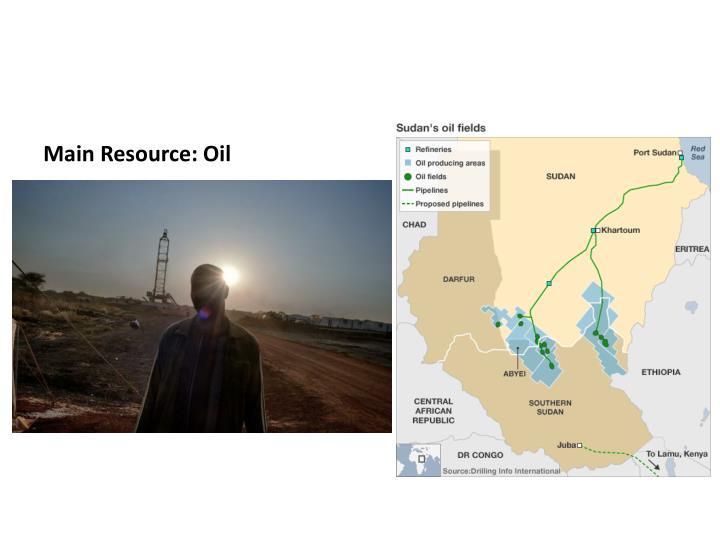 Main Resource: Oil