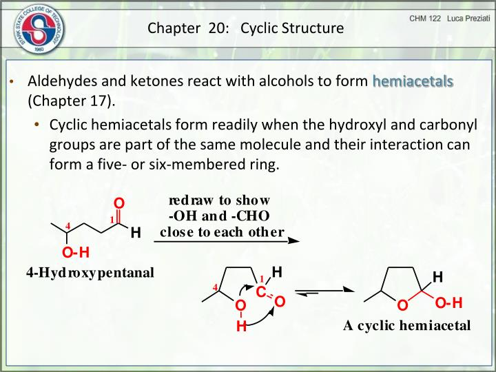 Chapter  20:   Cyclic Structure