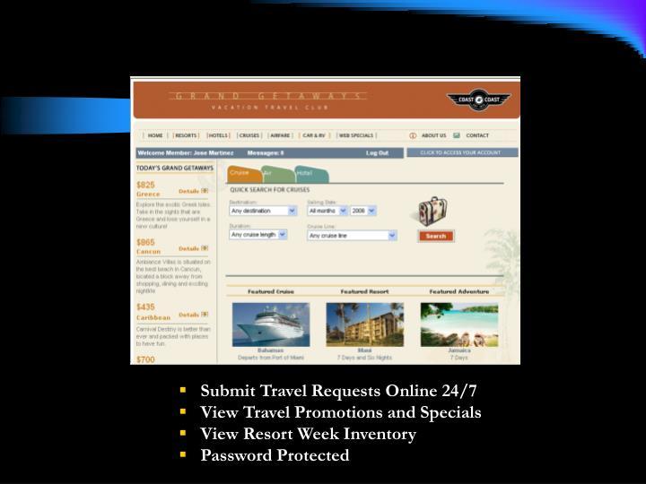Submit Travel Requests Online 24/7