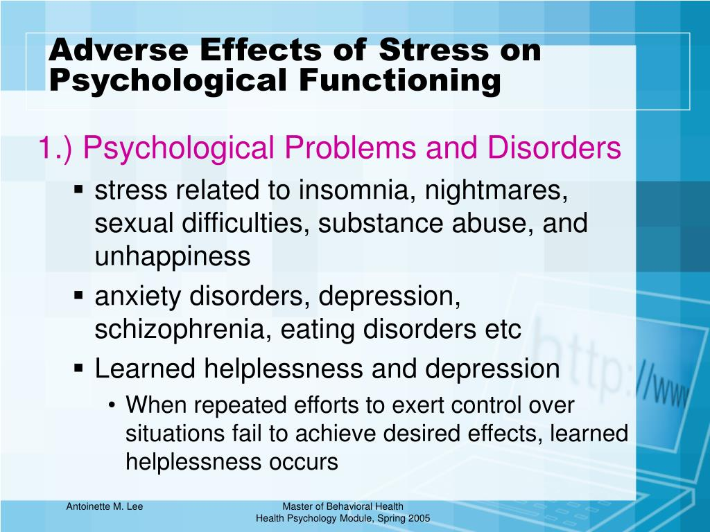 PPT - Lecture 2 Stress and Its Management PowerPoint ...