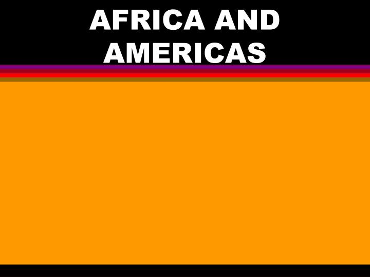 africa and americas n.