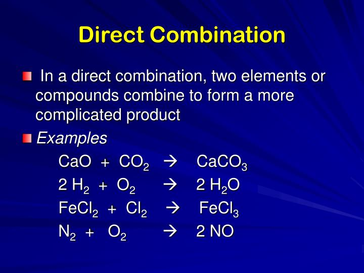Direct Combination