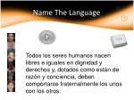 name the language15