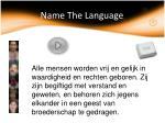 name the language31