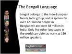 the bengali language